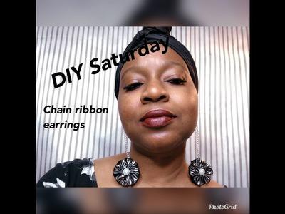 DIY SATURDAY THE CHAIN RIBBON EARRINGS