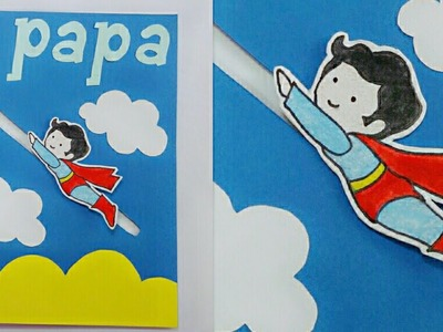 Father's Day Card.Father's Day Super Hero Card.Father's Day Super Hero Slider Card for Kids