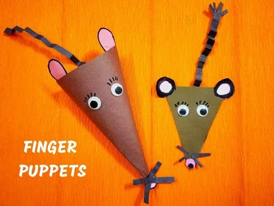 FINGER MOUSE PUPPET CRAFT || FINGER PUPPETS || DIY PUPPET CRAFT || Easy Craft Ideas at Home