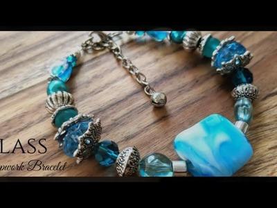 Handmade Jewellery | Glass lampwork Bracelet by Bella Leite Emporium