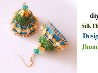 How Make Beautiful Silk Thread Earrings At Home | DIY | Silk Thread Jhumkas Making