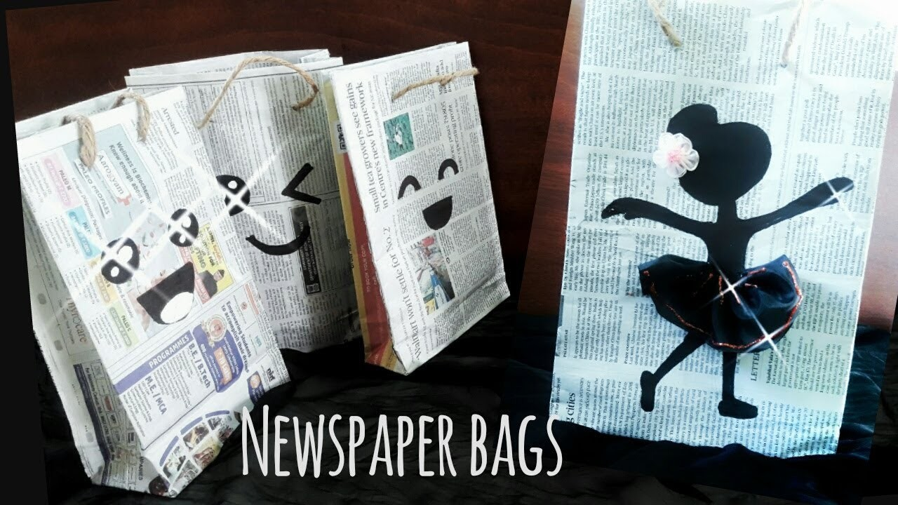 Paper Bag How To Make Paper Bag With Newspaper Newspaper