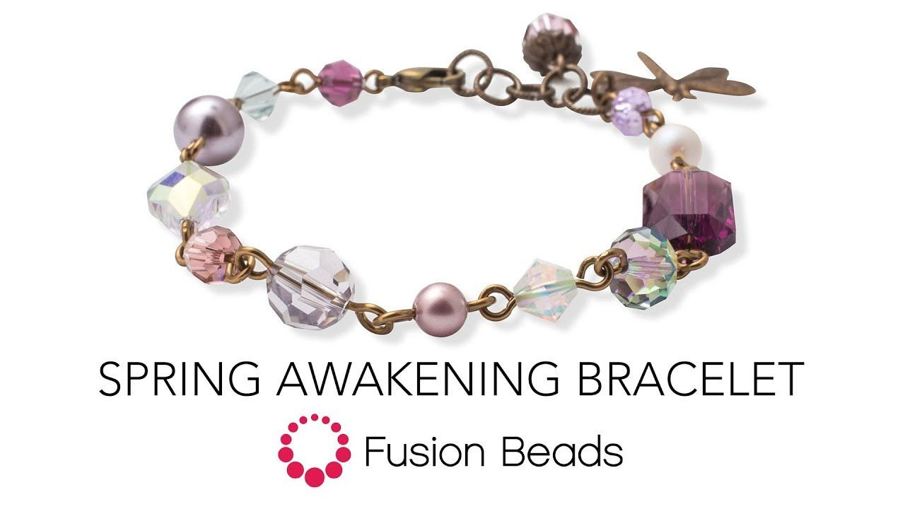 Watch how to make the Spring Awakening Bracelet by Fusion Beads