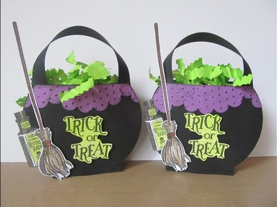 13 Haunted Projects of Halloween #5~ Witch's Cauldron Treat Box
