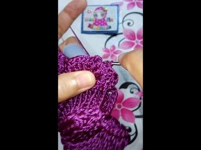 3D Leaf Crochet Bag Row12