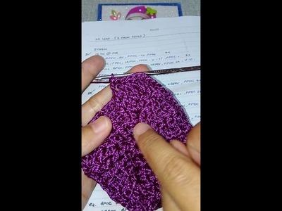 3D Leaf Crochet Bag Row6