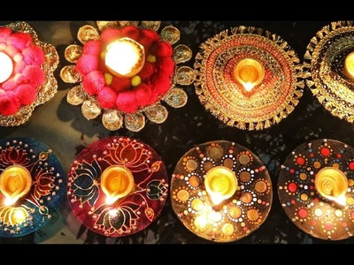 4 Amazing Diya Holders From Waste CD's || Best Diwali Decor ideas 2018