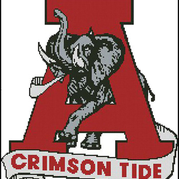 CRAFTS ALabama Crimson Tide FootBall Cross Stitch Pattern***LOOK***