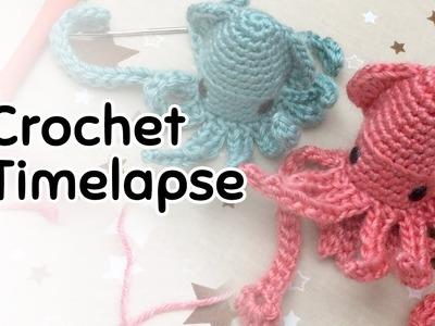 Amigurumi Squid Crochet Timelapse (5x speed)