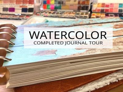 Another watercolor journal flip through