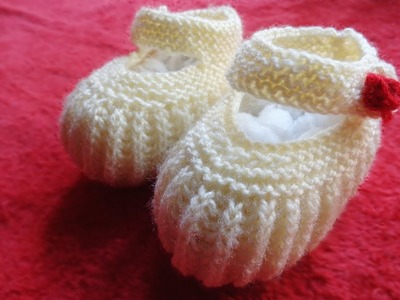 Baby Booties For One Year Baby | Knit Baby Booties |
