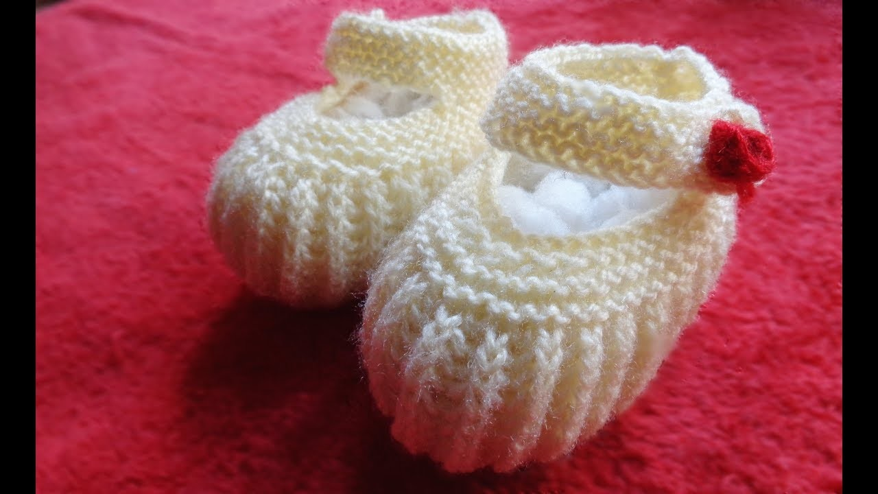 Baby Booties For One Year Baby   Knit Baby Booties  
