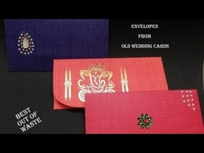 Best Use of Old Wedding Card || How to make Envelope using Wedding Card