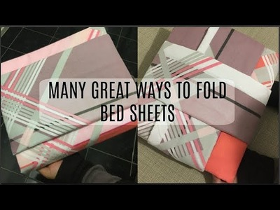 Better ways to fold bed sheets | Tips and tricks to fold bed sheets | Bed sheet folding techniques