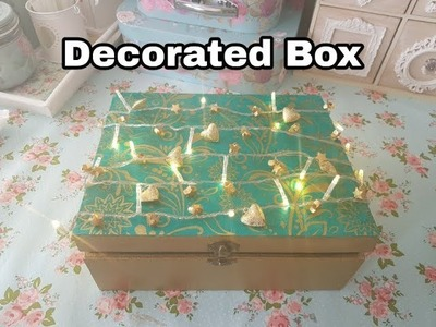 Christmas. Birthday Gift idea-  Christmas Eve box - Decorated Box with lights Tutorial