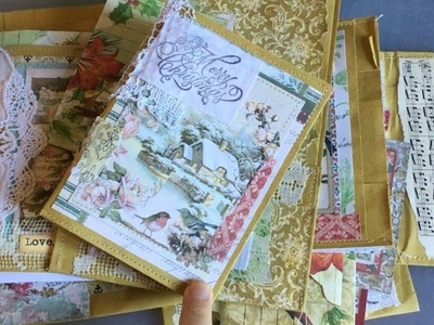 Christmas gift bag with journal and tags tutorial | how to | part 4 | finishing