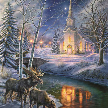 Church In The Clearing Cross Stitch Pattern***LOOK*** ***DOWNLOAD***