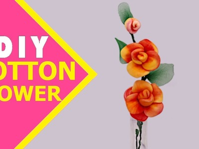 CLASSY COTTON CRAFTS | How to Make Cotton Flower | DIY Cotton Flower Tutorial | Aloha Crafts