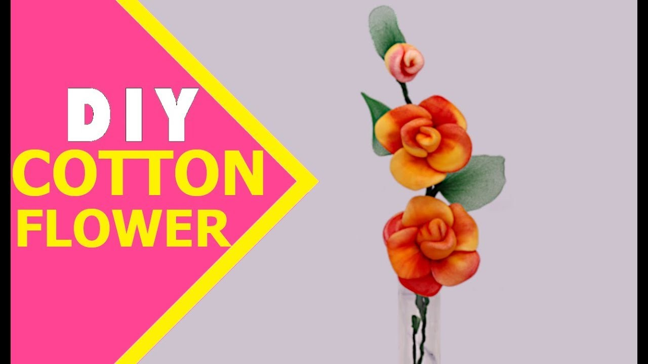 CLASSY COTTON CRAFTS   How to Make Cotton Flower   DIY Cotton Flower Tutorial   Aloha Crafts