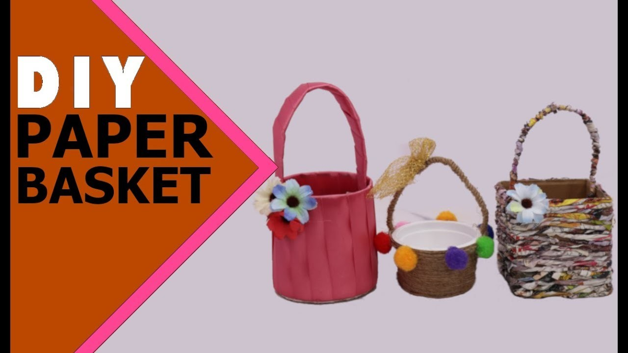 COOL PAPER BASKET | Paper Crafts |  Paper craft for Kids  | Best out of Waste | Aloha Crafts