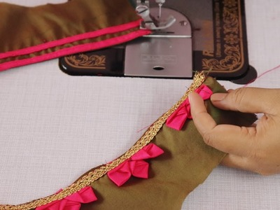 Cotton Saree Blouse || Easy Designs
