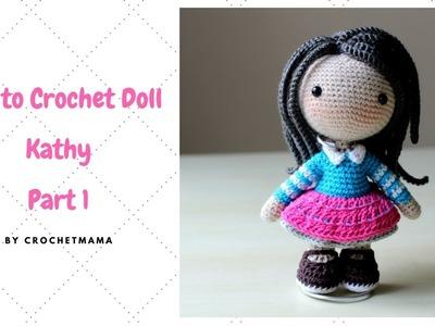 Crochet Amigurumi Doll Kathy Tutorial Part 1.3
