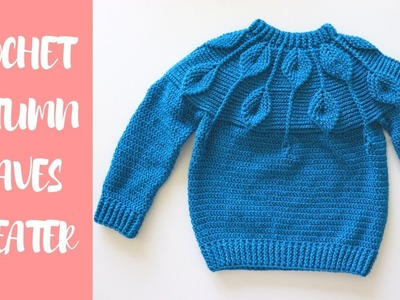 Crochet Autumn Leaves Sweater For All Sizes