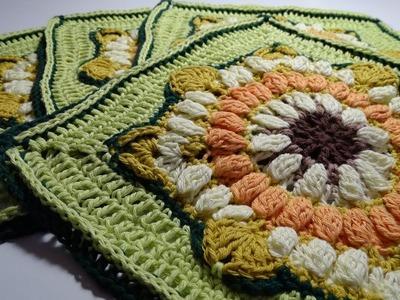 Crochet Blanket - Eve's Sunflowers Part 4
