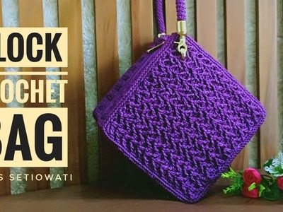 Crochet || block crochet bag
