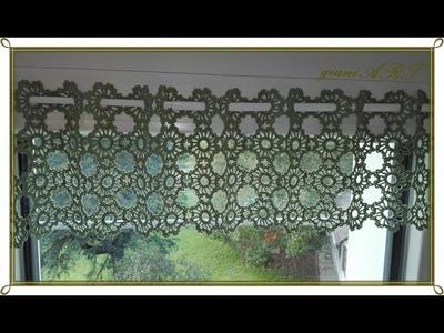 Crochet CURTAIN with Small Round Motifs.curtain crochet a very simple idea
