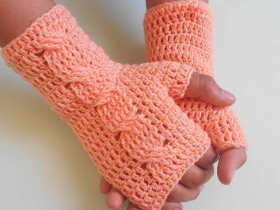 Crochet Finger less Easy Gloves