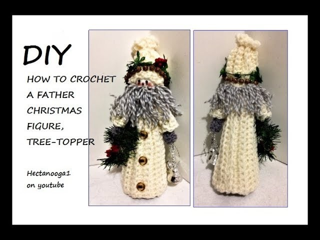 CROCHET PATTERN, FATHER CHRISTMAS SANTA FIGURE, #2324YT