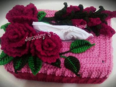Crochet Tissue Box Cover Tutorial(part 4)