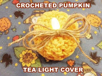 Crocheted Pumpkin Tea Light Cover