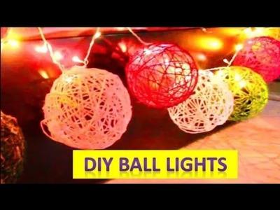 DIY Diwali Decoration Ideas | DIY Room Decorations |Beautiful | DIY Cotton Ball lights Diwali 2018