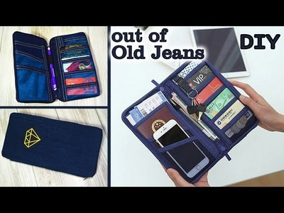 DIY JEANS PURSE BAG. Cute Pouch Phone Money Bag. Old Jeans Recycle Idea
