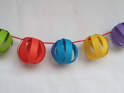DIY: Paper Ball!!! How to Make Paper Ball for Christmas Decoration!! X mas crafts!!!
