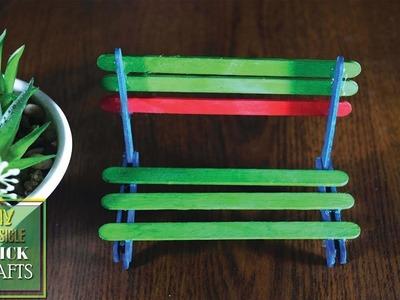 Diy popsicle stick crafts | Ice cream stick craft ideas | Diy furniture ideas