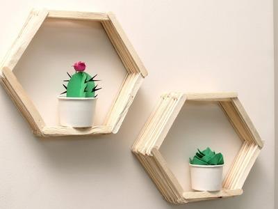 Diy Popsicle Sticks Wall Decor | Popsicle Stick Crafts | Diy Wall Arts | #DIYCRAFTS