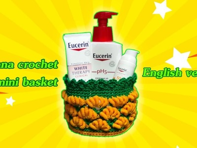 DIY Tutorial | How to crochet banana mini basket  English version