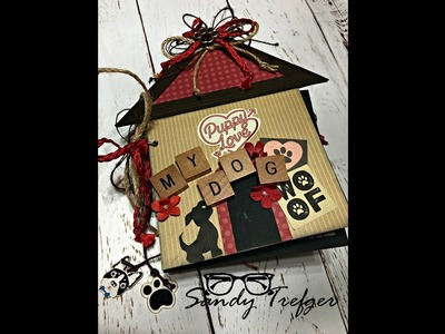 Dog House Mini Album Tutorial Video 2 Decorating