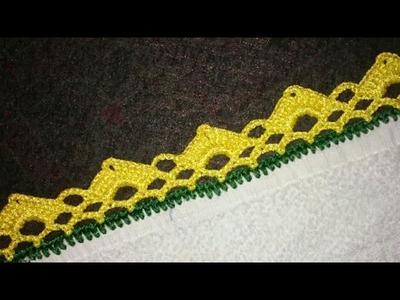 Easy Lace Pattern in hindi.Urdu,indian crochet lace pattern,indian crochet pattern