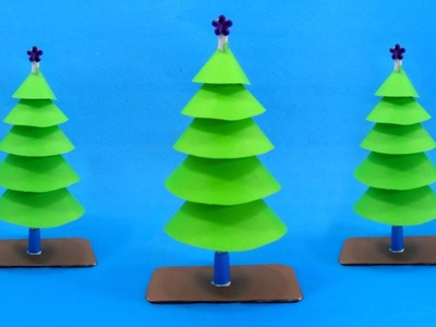 Easy Paper Christmas Decorations Christmas Tree Making With Color Paper