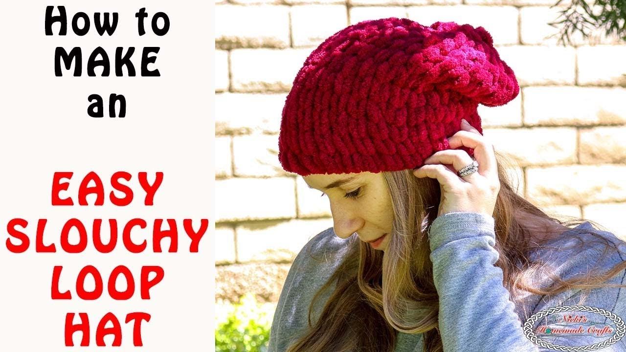 Easy Slouchy Loop Hat - Made with Loop Yarn
