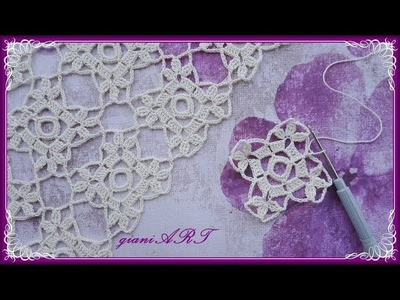 Easy to Crochet LACE Motif for TABLECLOTH #1