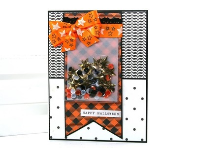 Fast and Easy Vintage Halloween Shaker Card Polly's Paper Studio  Scrap Your Stash DIY