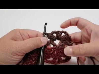 Felicity Scarf Pattern Tutorial for Row 1 to 5.