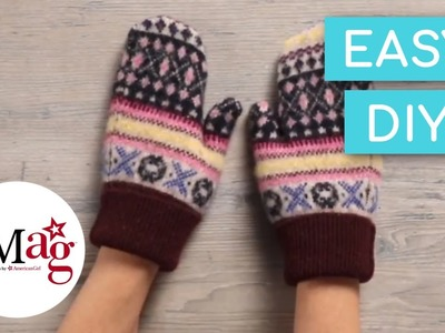 Felted Sweater Mittens | OMaG | American Girl