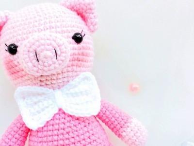 Gentleman pig free amigurumi pattern