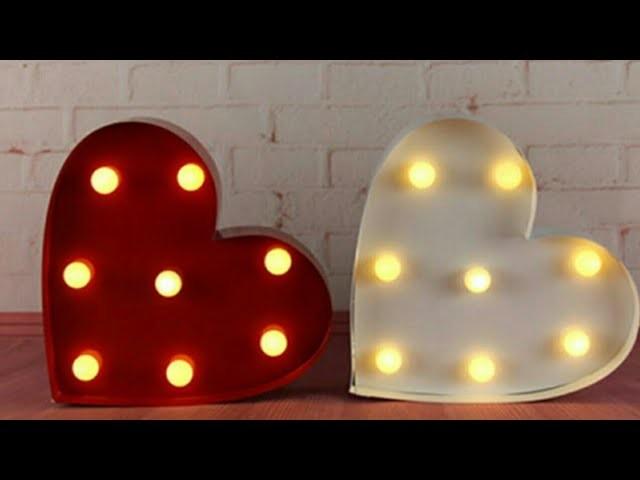 Heart shape valentine day gift idea!!crafts using LED LIGHTS-cardboard craft idea